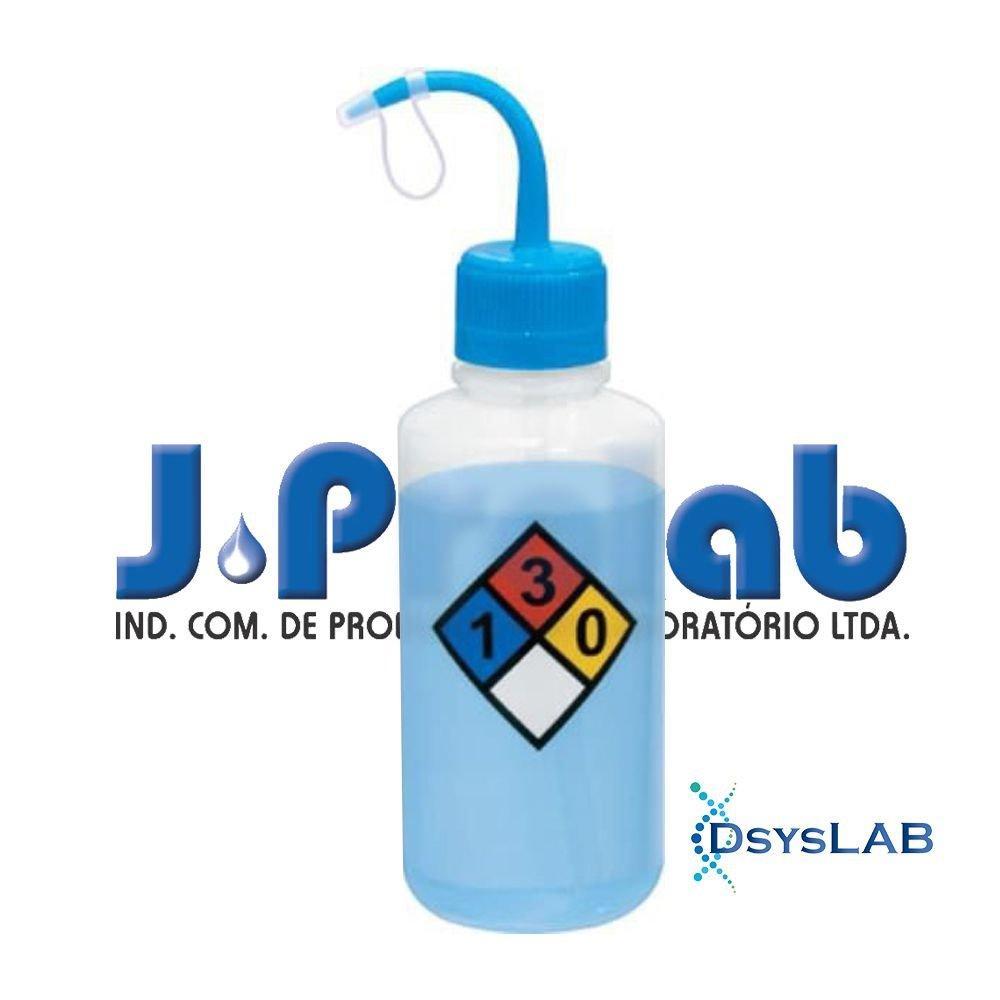Pisseta Graduada em silk screen PE Boca estreita Símbolo álcool etílico 70% J.Prolab