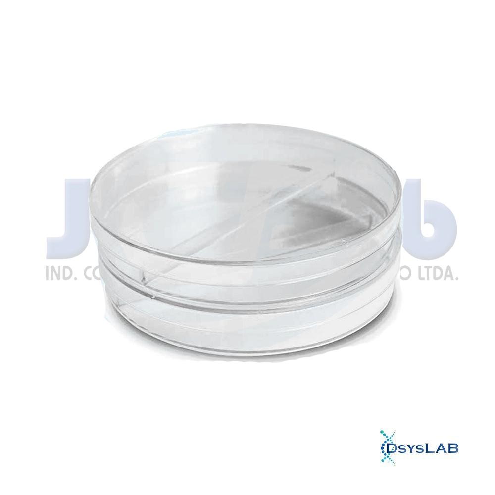 Placa de Petri Microbiologia Estéril Bipartida J.PROLAB