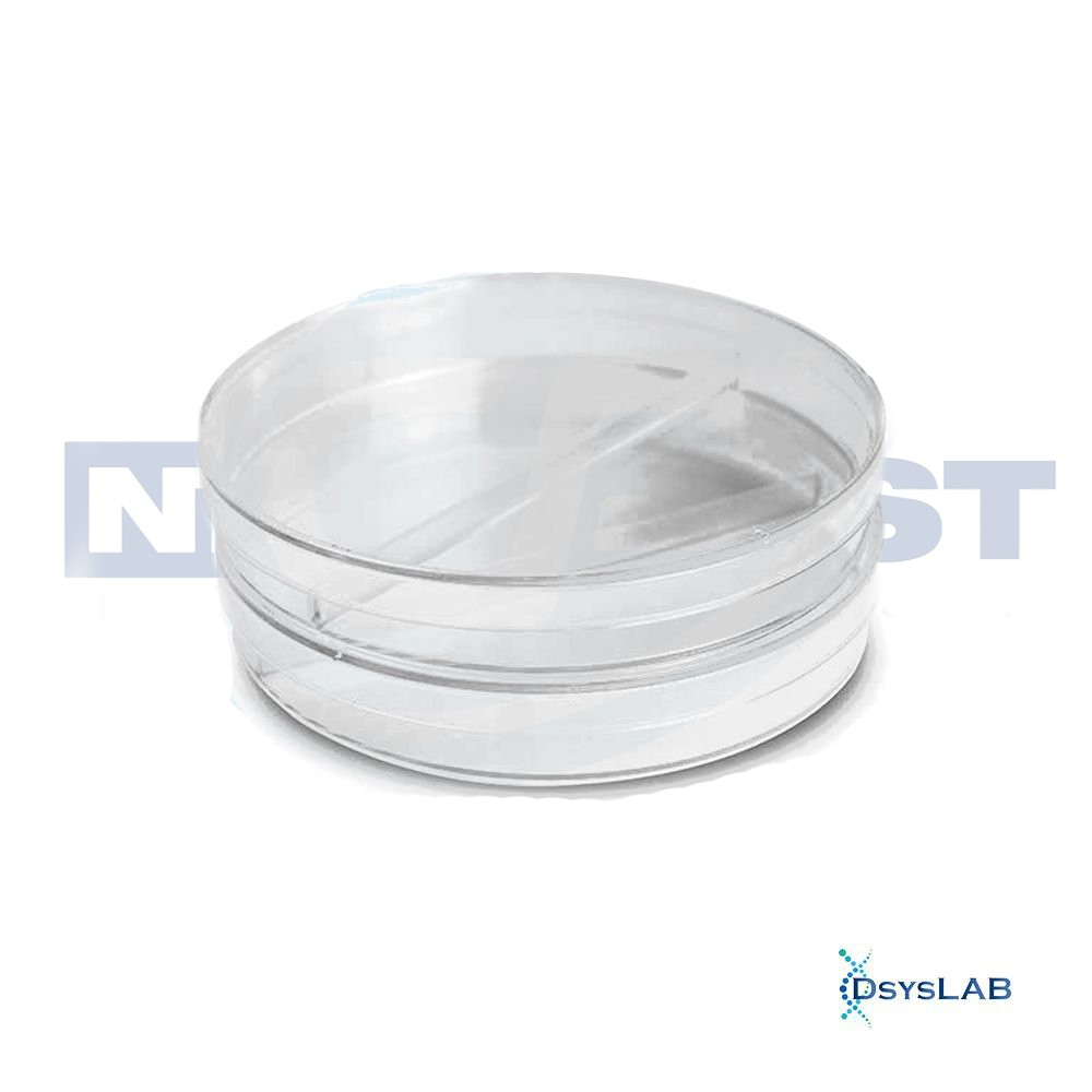 Placa de Petri Microbiologia Estéril Bipartida NEOPLAST