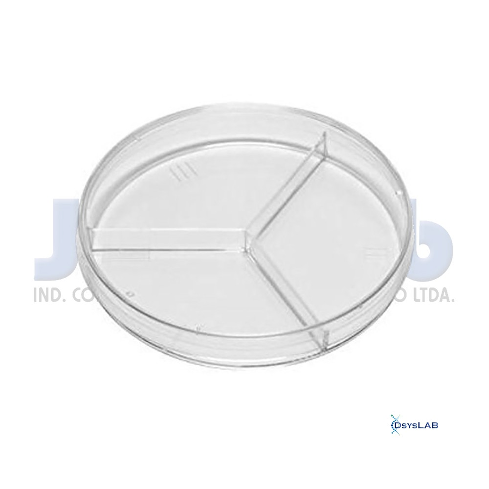 Placa de Petri Microbiologia Estéril Tripartida J.PROLAB
