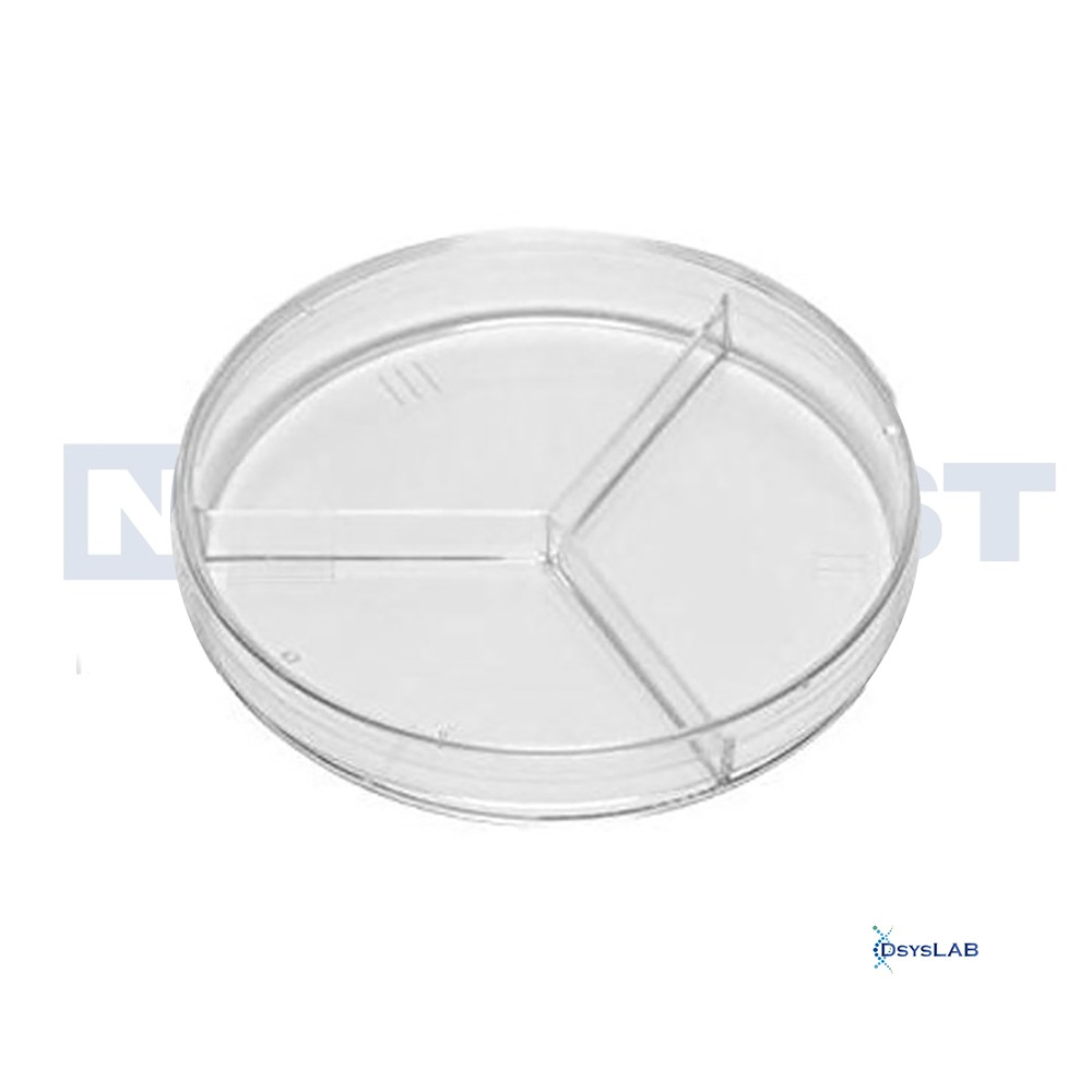 Placa de Petri Microbiologia Estéril Tripartida NEOPLAST