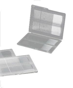 Porta lâminas Tipo envelope Trava de pressão Polipropileno (PP) Transparente CRALPLAST