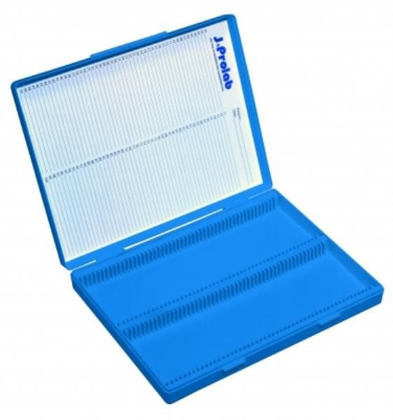 Porta lâminas Tipo maleta Tipo pressão Numerada Polipropileno (PP) J.PROLAB