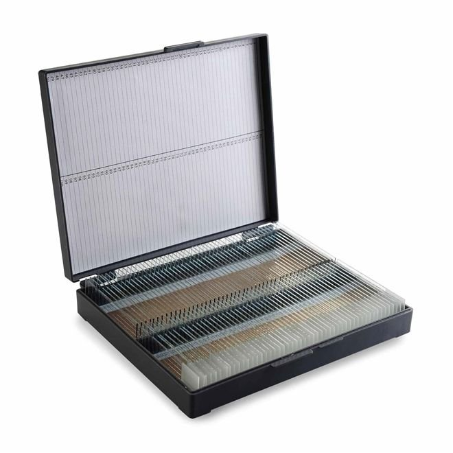 Porta lâminas Tipo maleta Trava de pressão Numerada ABS Cinza CRALPLAST