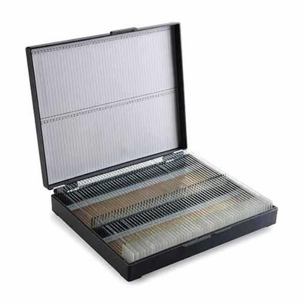 Porta lâminas Tipo maleta Trava de pressão  Numerada ABS Cinza OLEN