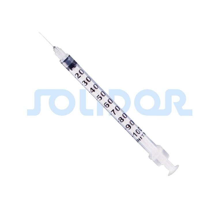 Seringa para insulina Estéril com agulha fixa 13x0,33 mm SOLIDOR