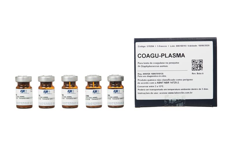 Suplemento Plasma de Coelho (Coaguplasma) Utilizado na prova da coagulase na pesquisa de estafilococos LABORCLIN