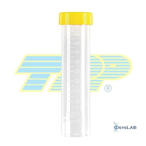 Tubo de centrifugação Fundo cônico Auto-sustentável Estéril Livre de DNAse, RNAse e Pirogêncios Polipropileno (PP) Em pacote  TPP