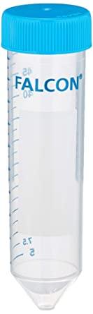 Tubo de centrifugação Fundo cônico  Estéril Livre de DNAse, RNAse e Pirogêncios Polipropileno (PP) Em pacote Tampa de rosca FALCON