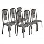 Conjunto de 6 Cadeiras 451/556 Prata Craqueado Paraobeba 15 Madmelos