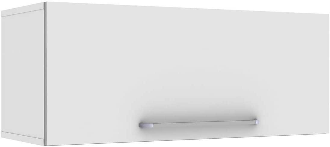 Armário 1 Porta Geladeira Color Plus Branco Lacca Zanzini