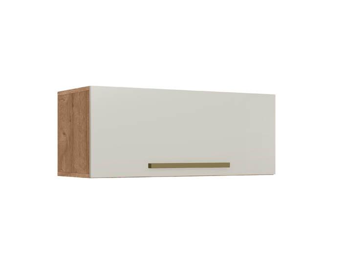 Armário 1 Porta Geladeira Color Plus Natura/Off White Zanzini