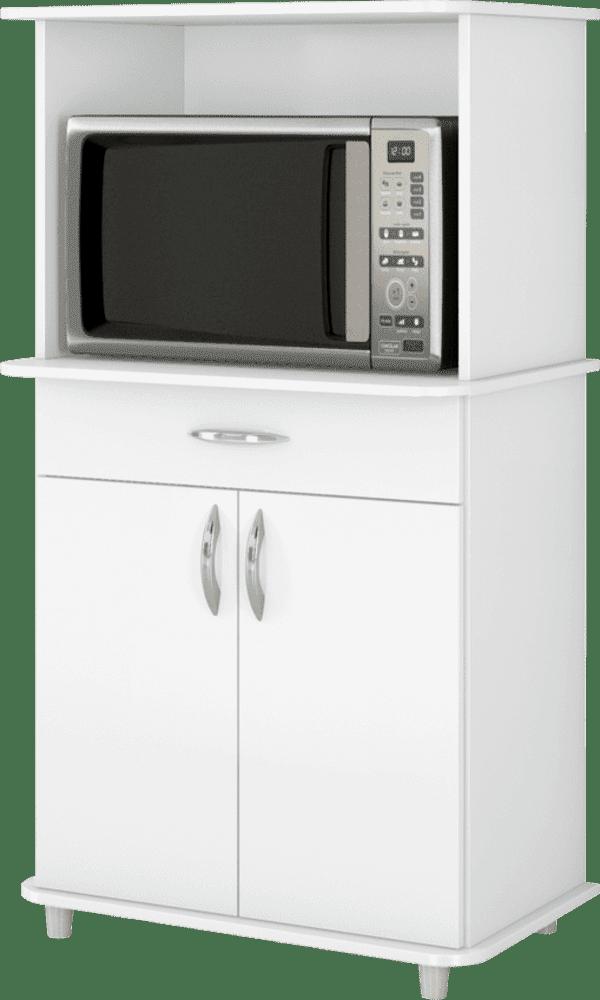 Armário para Micro-ondas com 2 Portas Gaveta Classic Branco 5500430 Notável