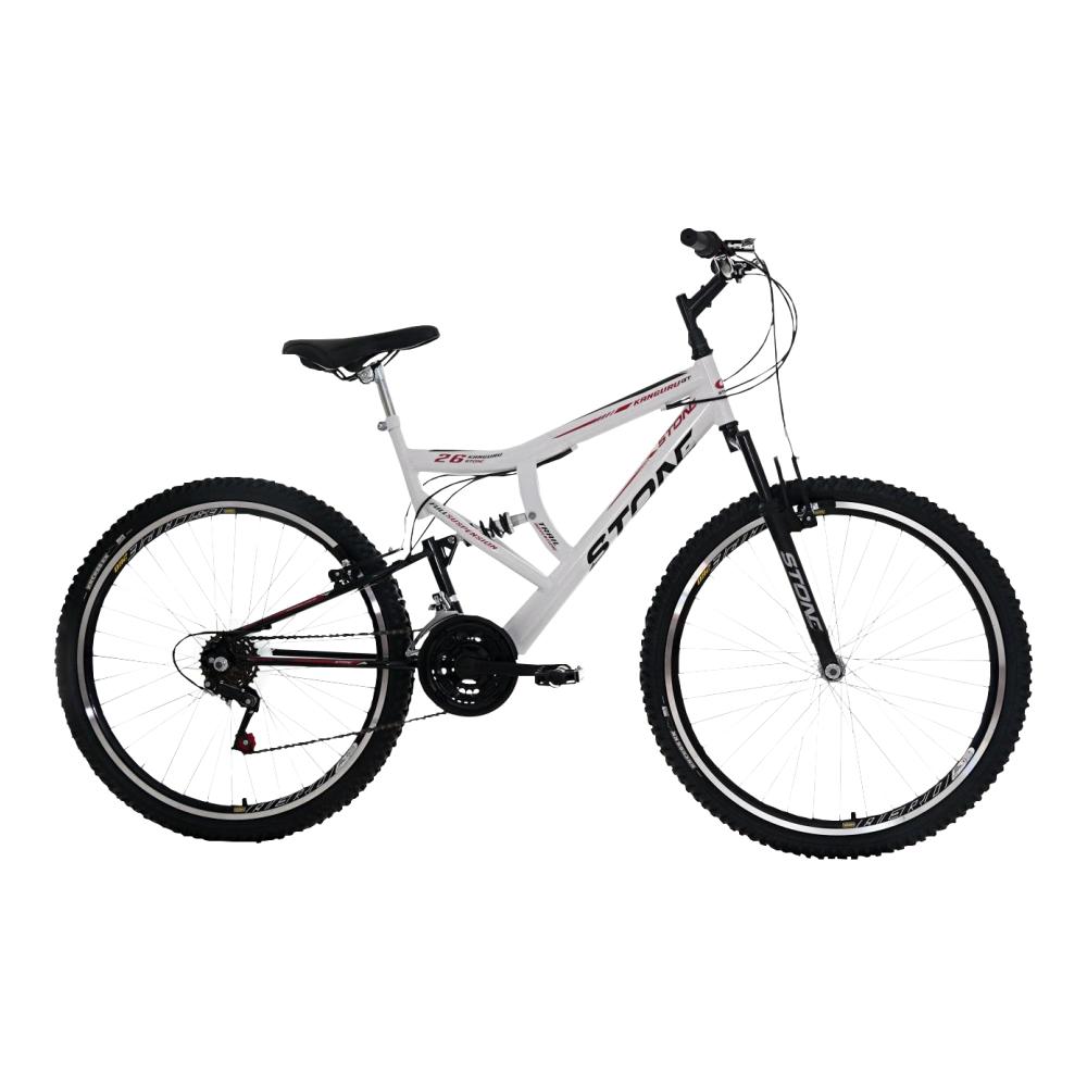 Bicicleta 26 Kanguru GT Branco/Preta Stone Bike