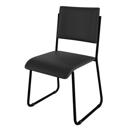 Cadeira Mundi Preta CE-08 101006 Móveis Belo
