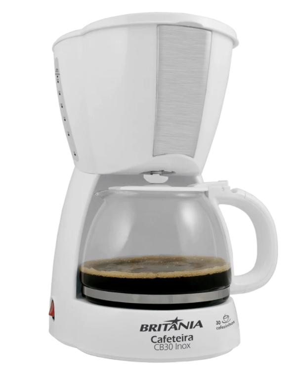 Cafeteira 30 Xícara CB30 Branco/ Inox 127V 63901046 Britânia
