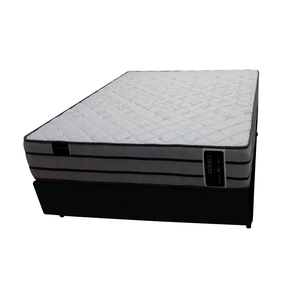 Cama Box + Colchão de Molas com Pillow Pocket Casal Amx Double Americanflex