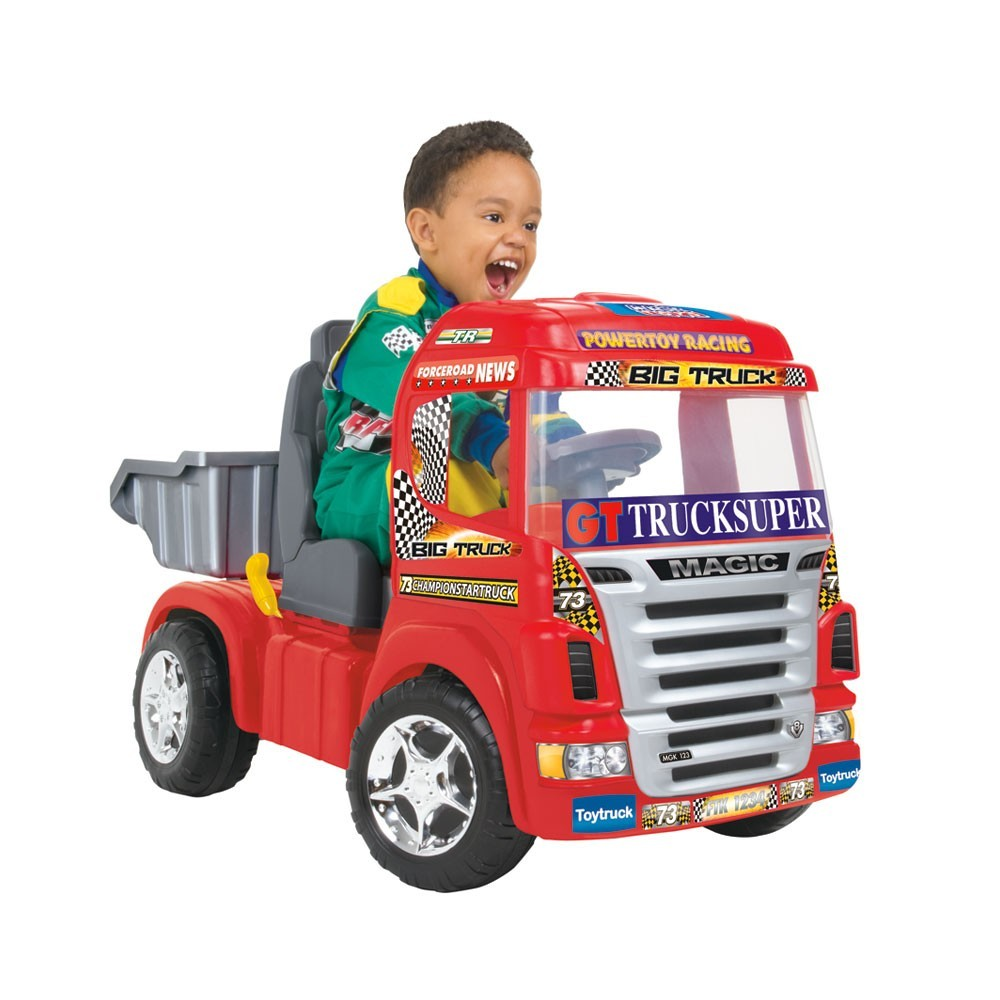 Caminhão Elétrico Big Truck Vermelho Mágic Toys