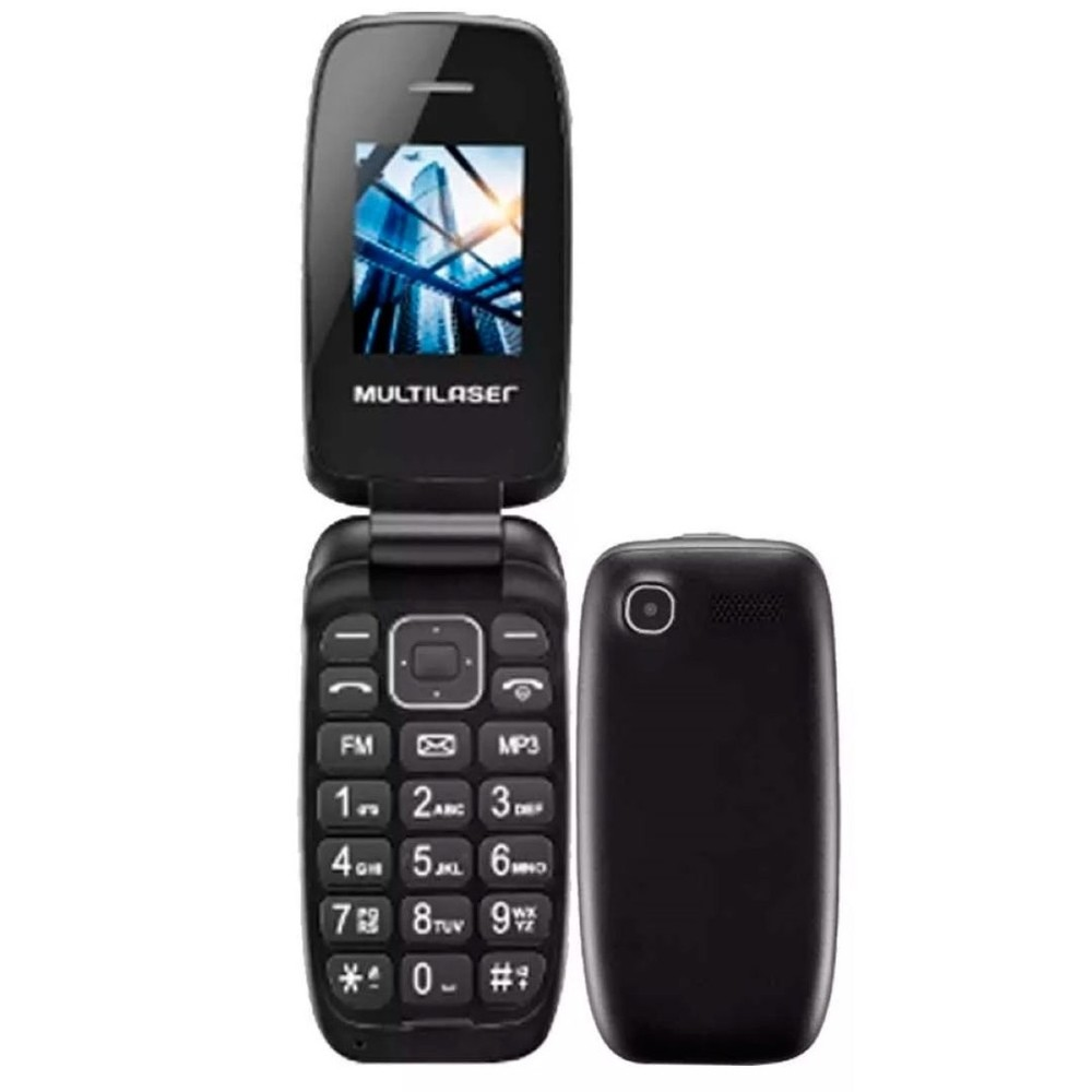 Cel.P9022 UP 1.8 Dual Chip 2G Preto Multilaser