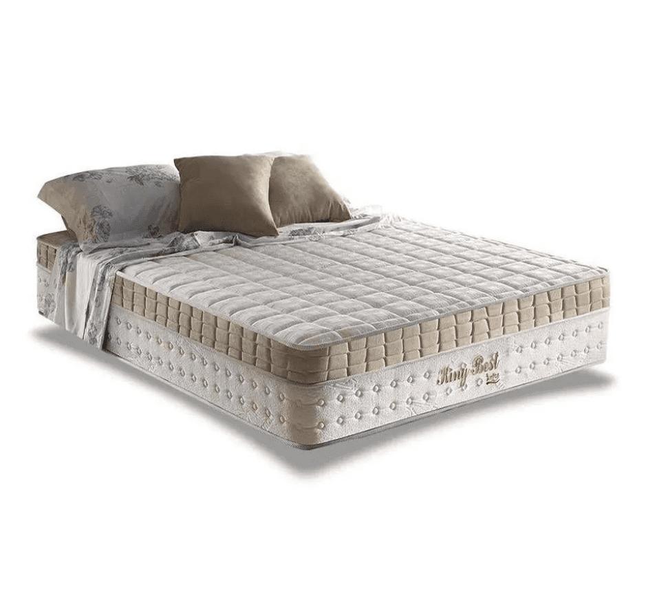 Colchão Mola 158/28 com Pillow Superlastic Bege King Best Anjos