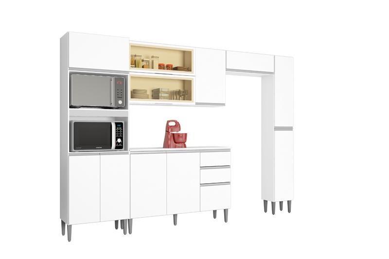 Cozinha Completa Aline com 5 Peças Branco Poquema