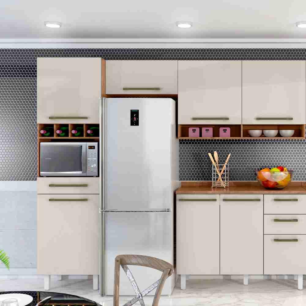 Cozinha Completa Color 4 Peças Natura/Off White Zanzini