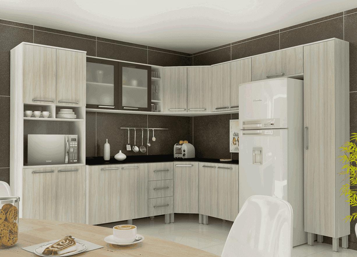 Cozinha Completa Sâmia 10 Peças Ártico/Niágara Luciane
