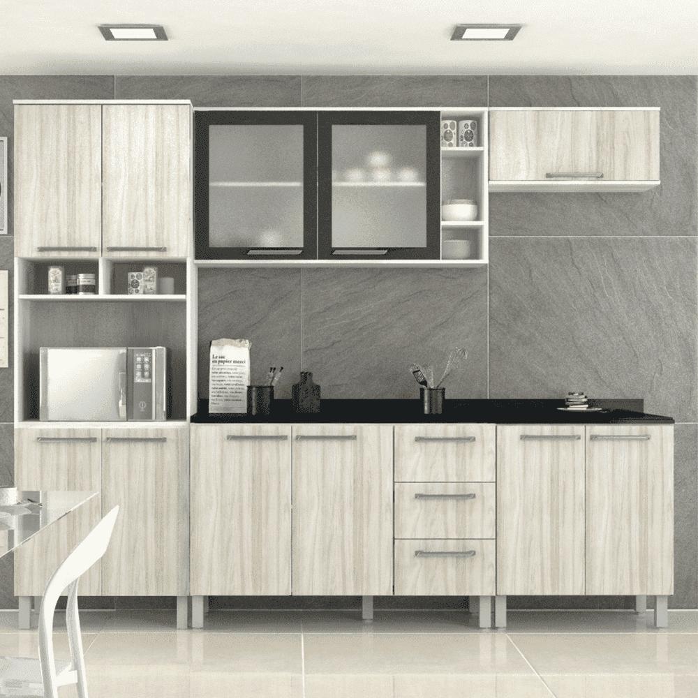 Cozinha Completa Sâmia 6 Peças Ártico/Niágara Luciane