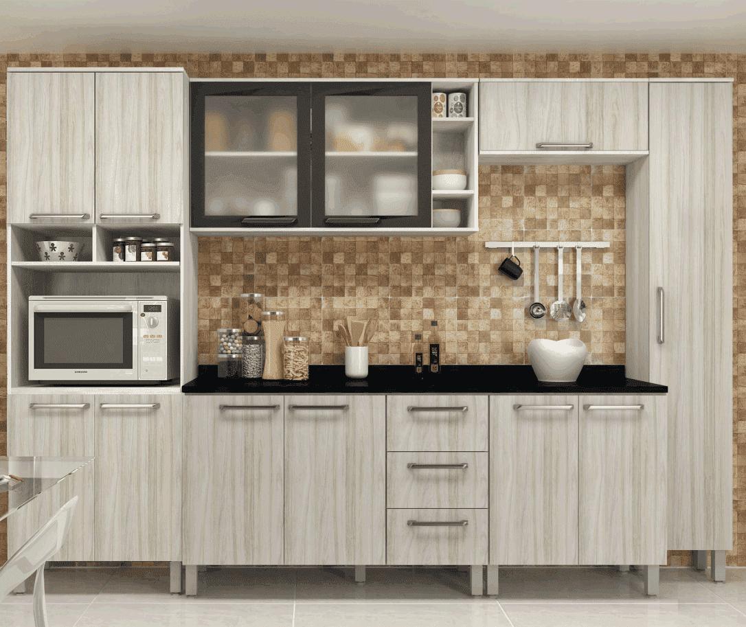Cozinha Completa Sâmia 7 Peças Ártico/Niágara Luciane