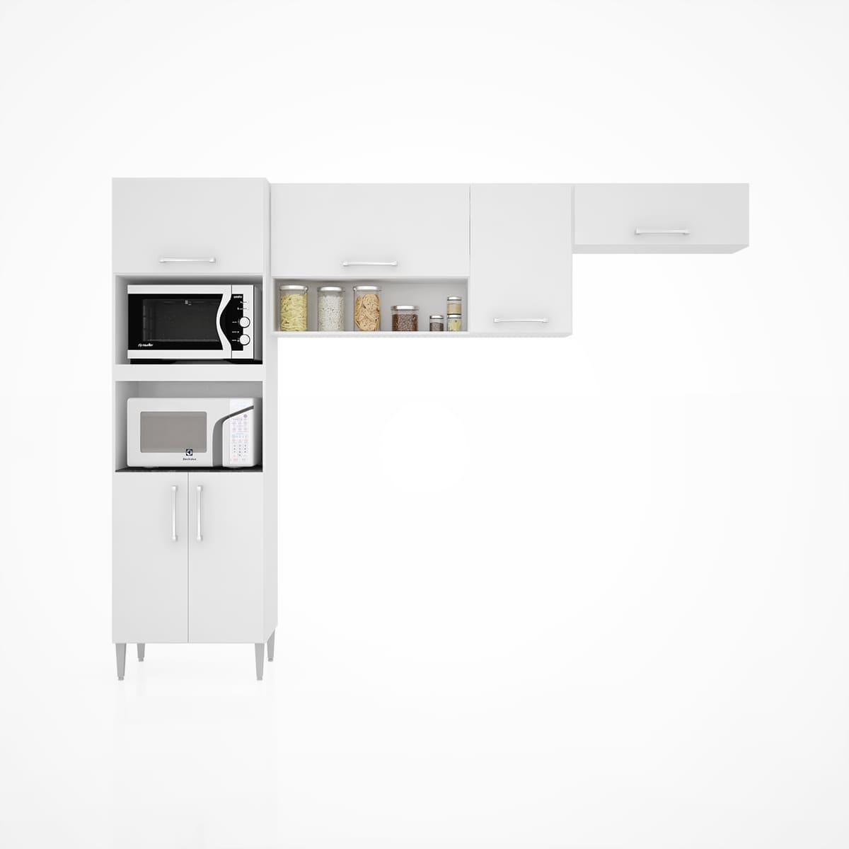 Cozinha Sharmilla Completa 3 Peças Branco A593.00 Poquema