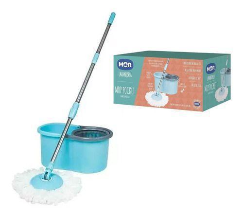 Esfregão Mop Pocket Limpeza Prática 8L ref.8294 Mor