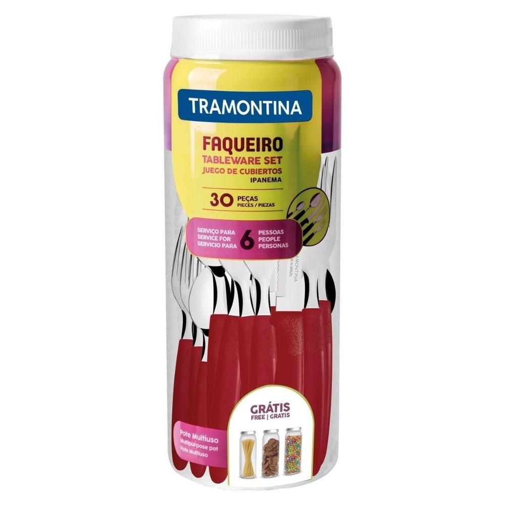Faqueiro 30 Peças 23398/788 Vermelho Ipanema Tramontina