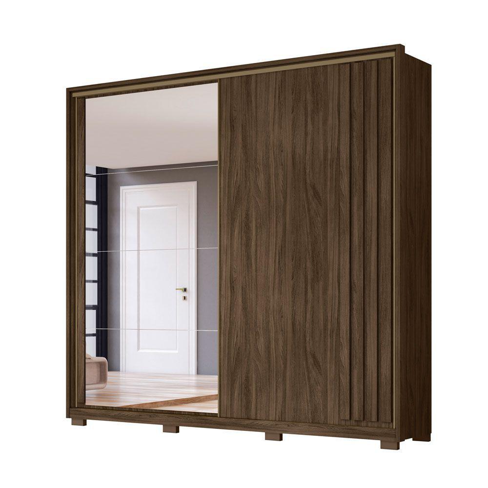 Guarda-Roupa 2 Portas Oron com Espelho Wengue 948023 Moval