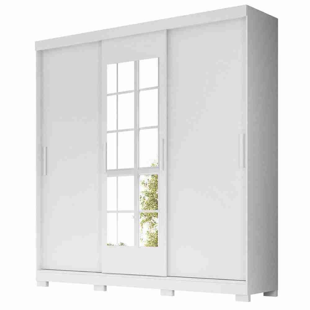 Guarda-Roupa 3 Portas Ilhéus com Espelho Branco 904440 Moval