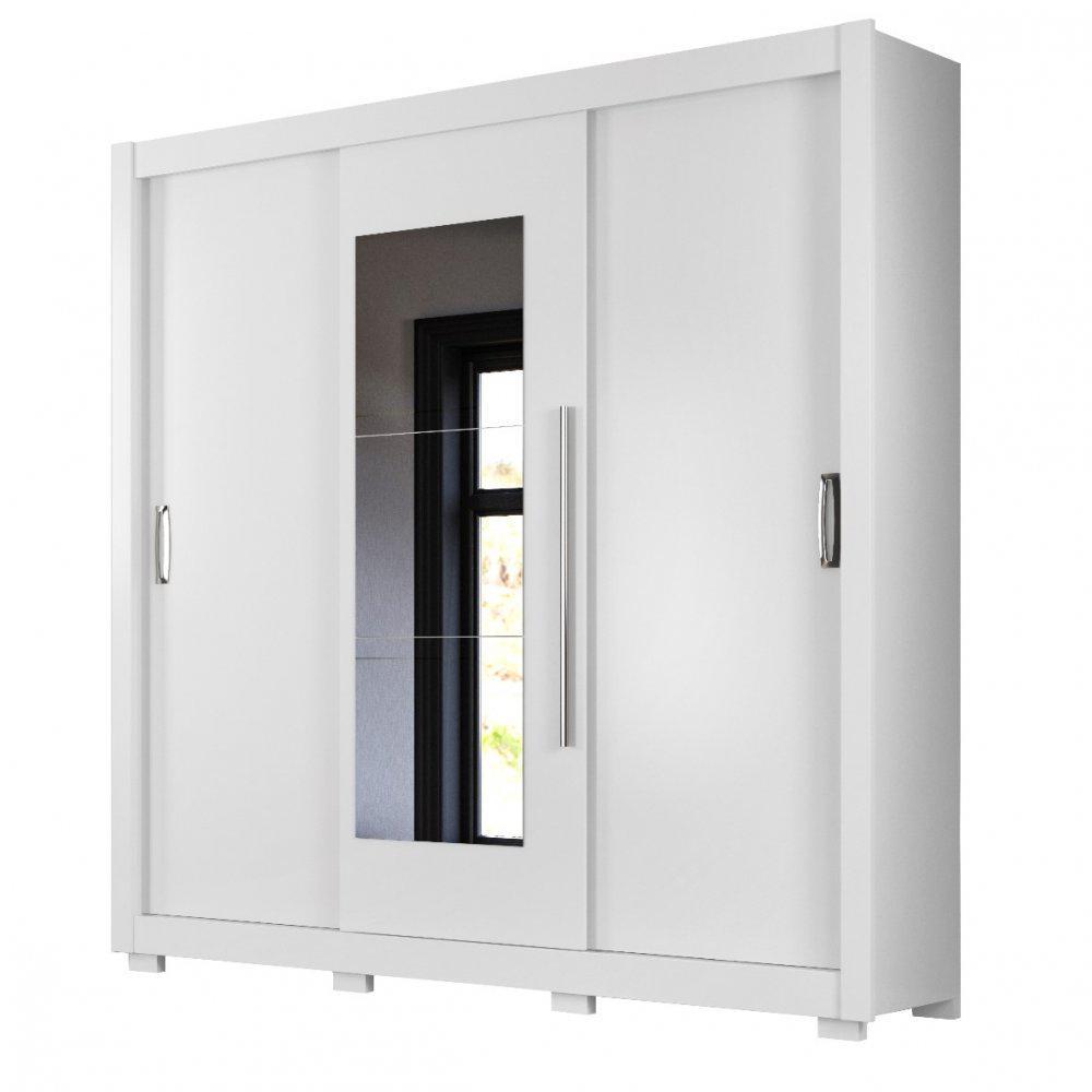Guarda-Roupa 3 Portas Montreal Plus com Espelho Branco 944440 Moval
