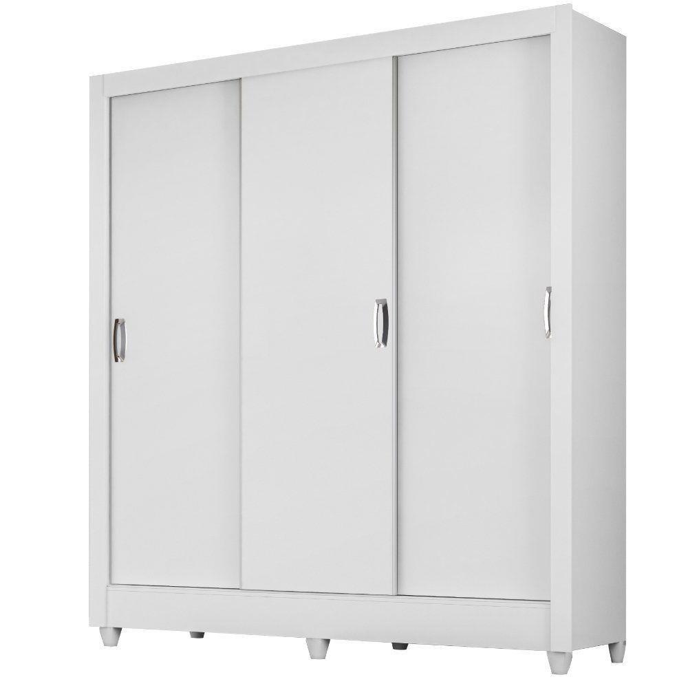 Guarda-Roupa 3 Portas Rebouças Branco 928440 Moval