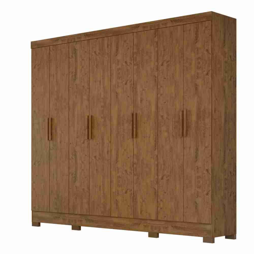 Guarda-Roupa 8 Portas Diplomata Castanho Wood 911331 Moval