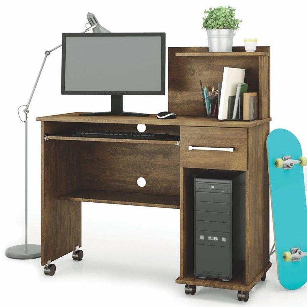 Mesa para Computador Studio New 902924  Canela Lukaliam