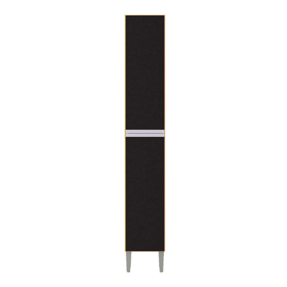 Paneleiro Simples 0.26 Aline Damasco/Preto A704.47 Poquema
