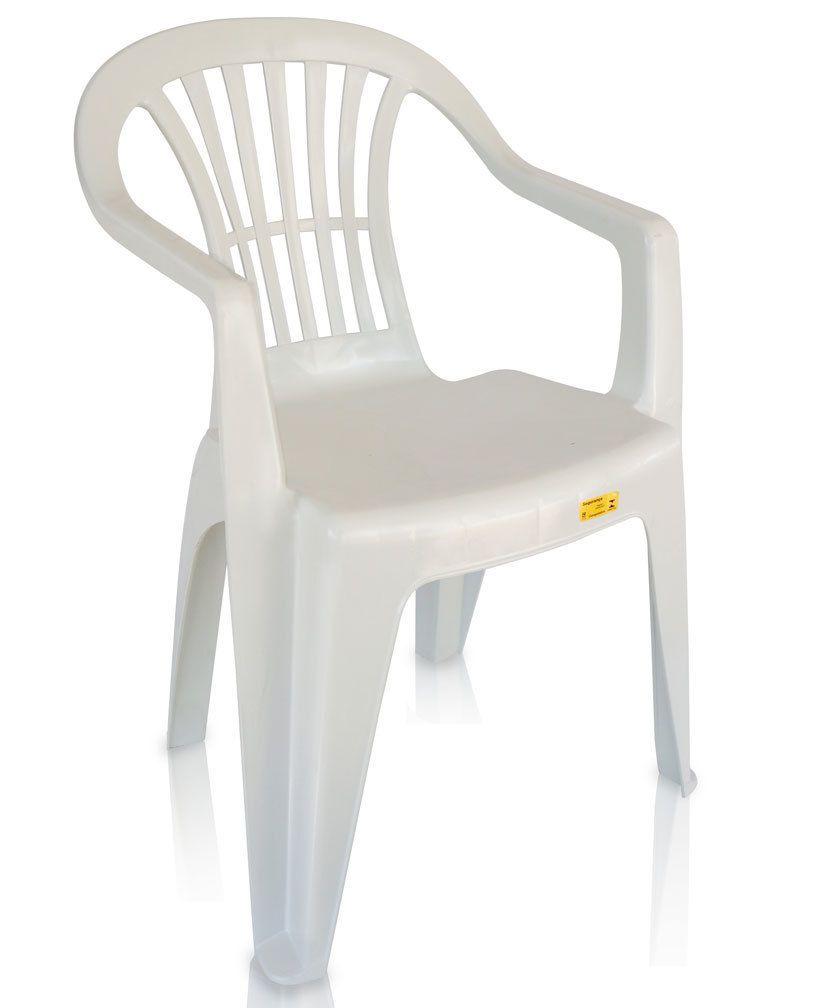 Poltrona Plástica Boa Vista Branca Ref.40 Antares