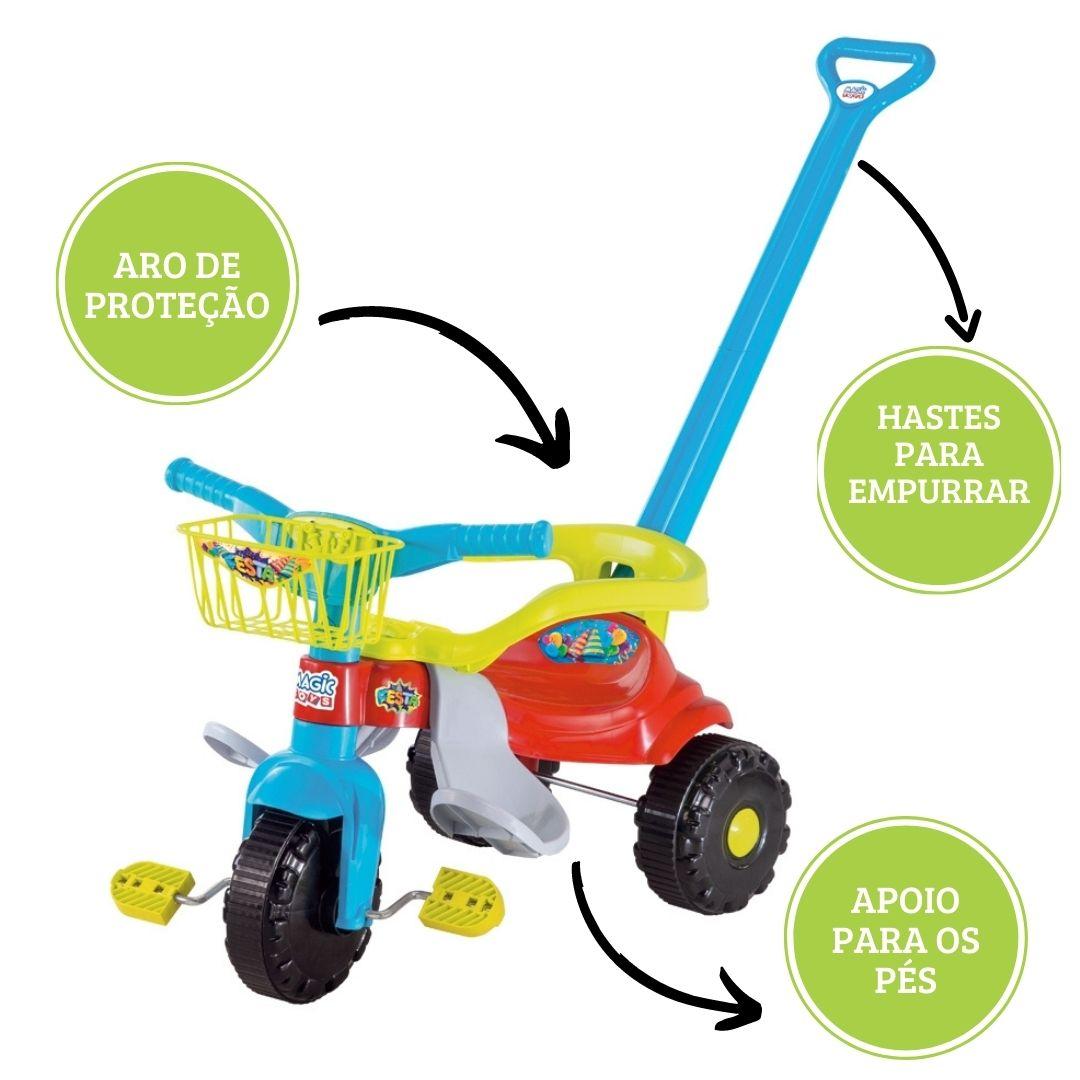 Tico-tico Festa com Alça Azul Ref.2560L Magic Toys