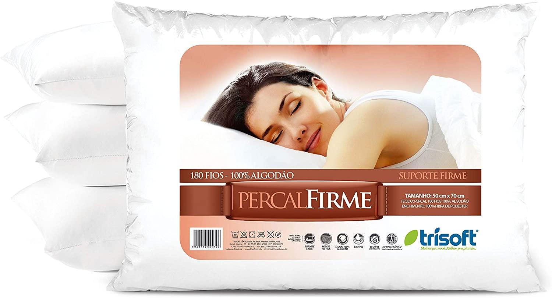 Travesseiro Percal Firme Suporte Firme 50X70 C056 Trisoft