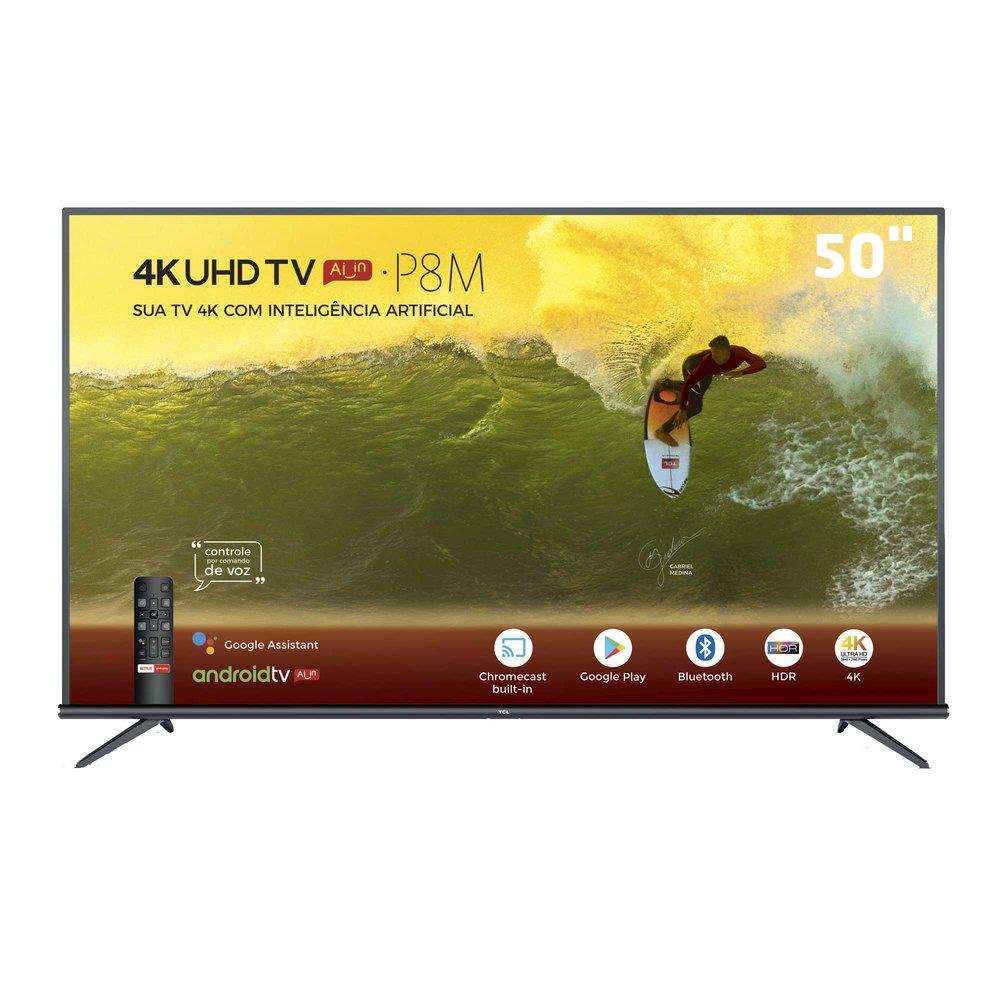 Tv 50 led 50P9M 4K DTVI HDMI USB smart TCL