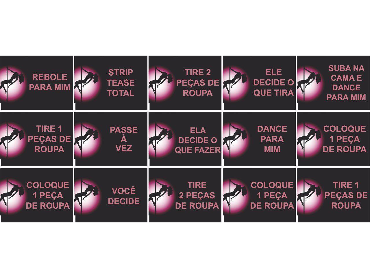 Mini baralho strip tease (com 15 cartas)