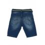 Bermuda Infantil Jeans Moletom C/Cinto