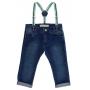 Calça Crawling Jeans Infantil Skinny C/ Suspensório