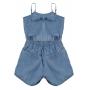 Macaquinho Infantil Feminino Crawling Jeans