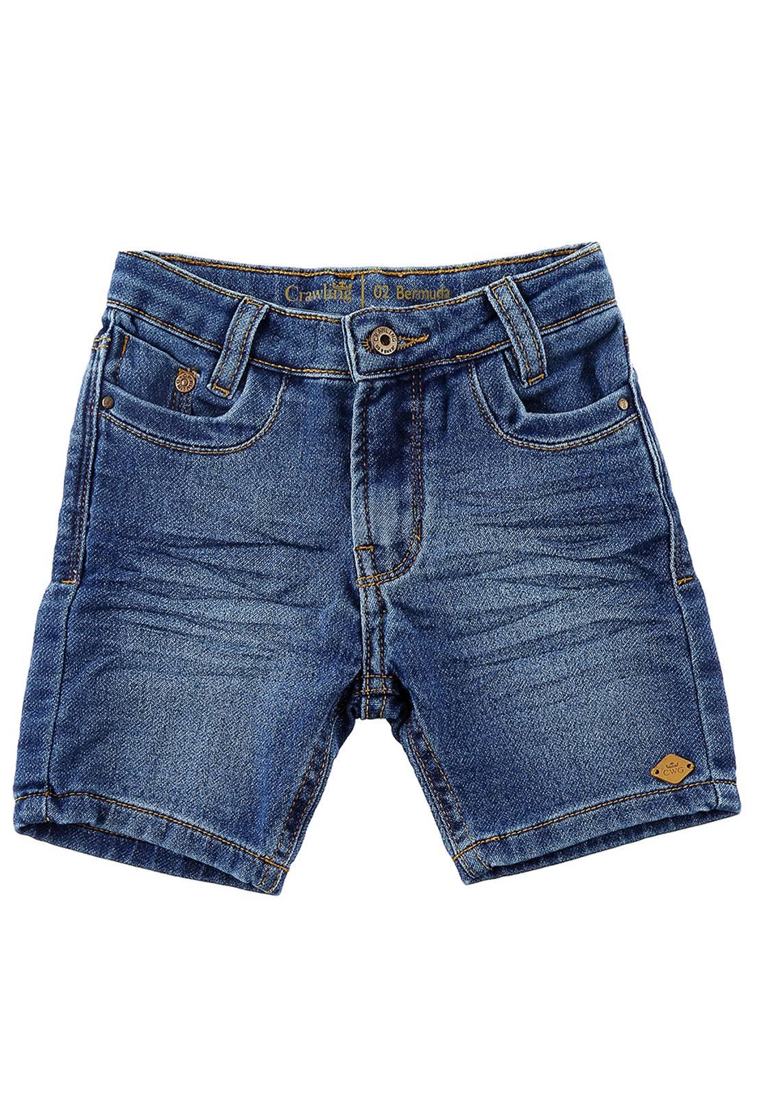 Bermuda Baby Jeans Moletom Masculina
