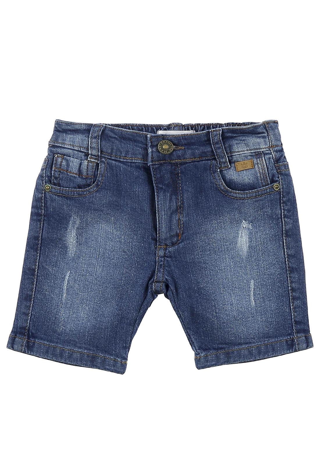Bermuda Crawling Jeans Masculina