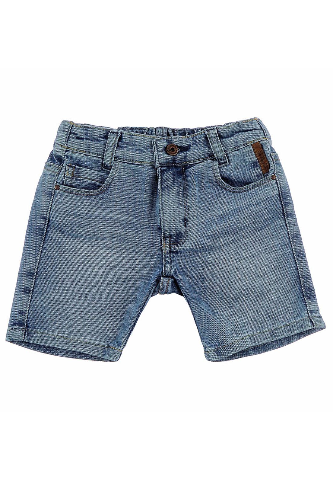 Bermuda Crawling Jeans Masculina Baby Boy